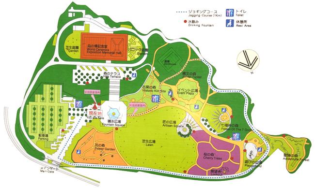 歴史と文化の森公園案内図